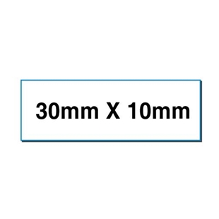 Picture of Rectangular stickers 30mm x 10mm