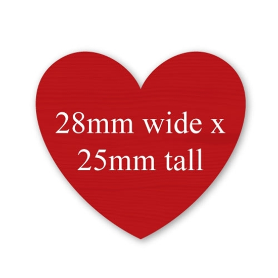 Picture of Heart Shaped Stickers 28mm x 25mm