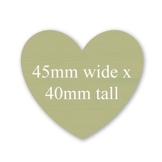 Picture of Heart Shaped Stickers 45mm x 40mm