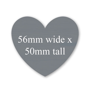 Picture of Heart Shaped Stickers 56mm x 50mm