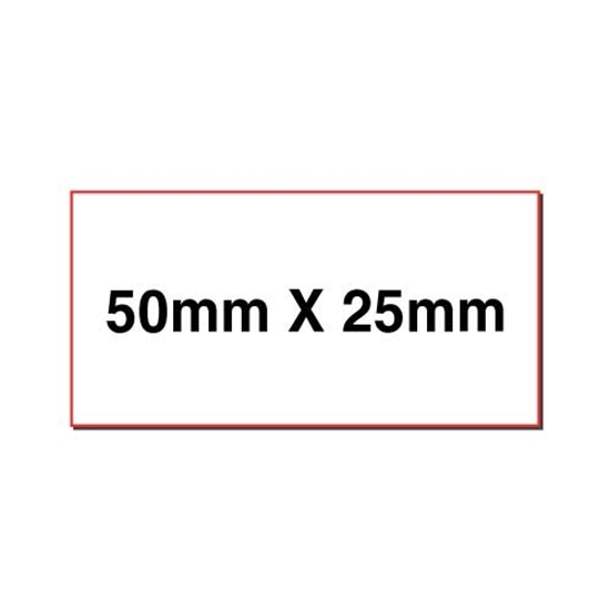 Picture of Rectangular stickers 50mm x 25mm
