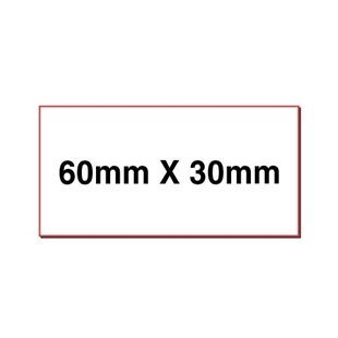 Picture of Rectangular stickers 60mm x 30mm