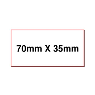 Picture of Rectangular stickers 70mm x 35mm