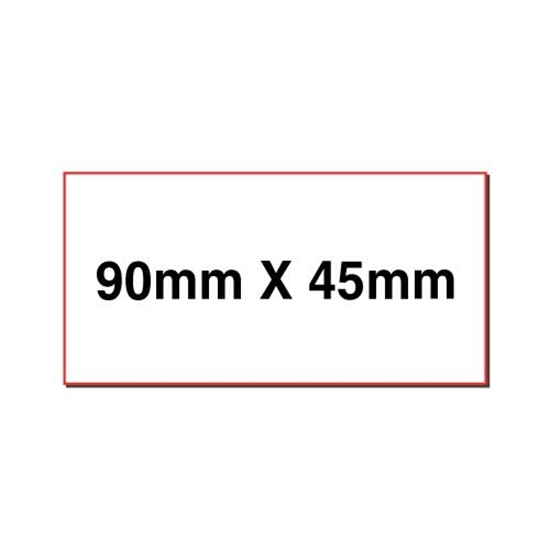 Picture of Rectangular stickers 90mm x 45mm