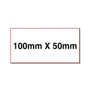 Picture of Rectangular stickers 100mm x 50mm