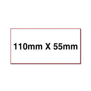 Picture of Rectangular stickers 110mm x 55mm