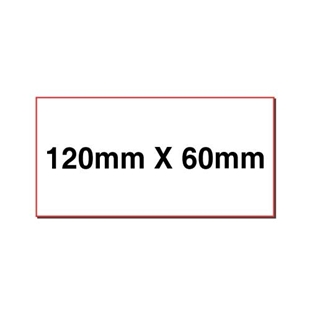 Picture of Rectangular stickers 120mm x 60mm