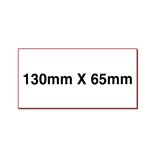 Picture of Rectangular stickers 130mm x 65mm