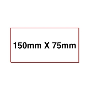 Picture of Rectangular stickers 150mm x 75mm