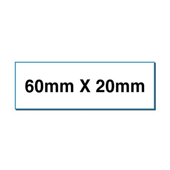 Picture of Rectangular stickers 60mm x 20mm