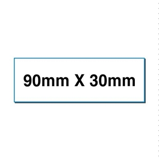 Picture of Rectangular stickers 90mm x 30mm
