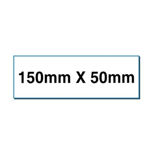 Picture of Rectangular stickers 150mm x 50mm