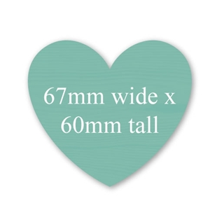 Picture of Heart Shaped Stickers 60mm x 67mm