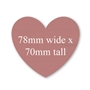 Picture of Heart Shaped Stickers 70mm x 78mm