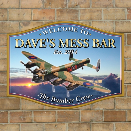 Picture of Lancaster Bomber Home Bar Sign