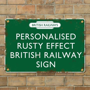 Picture of Rusty Effect British Railway Sign