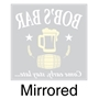 Picture of Pub Window Sticker with beer and barrel logo