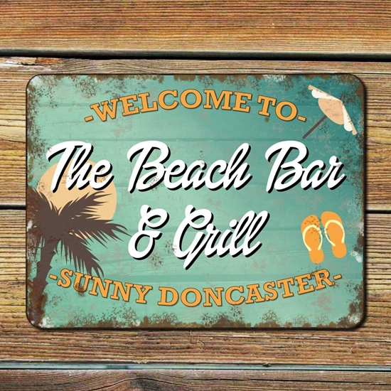 Picture of Old Style Beach Bar Sign