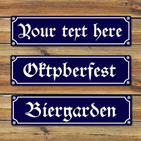 Picture of Traditional German Street Sign
