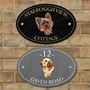 Picture of Oval Personalised Dog House Name Plaque