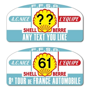 Picture of Replica Shell Berre Rally Plate