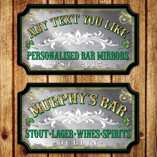 Picture of Personalised Vintage Style Irish Pub Mirror