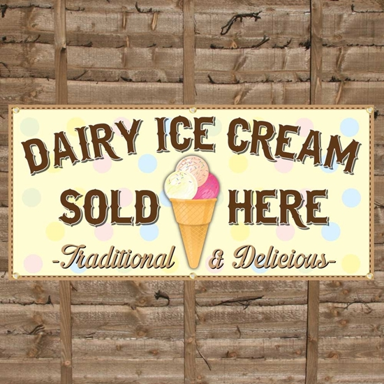 Picture of Ice Cream Sold Here PVC Banner