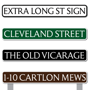 Picture of Extra Long Traditional Street Road Sign