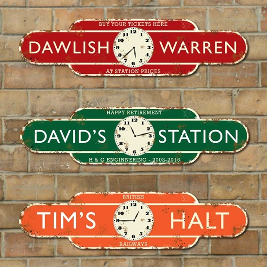 Picture of Rusty Style Railway Station Totem Clock