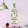 Picture of Wine Bottle Clock - Life is to short...
