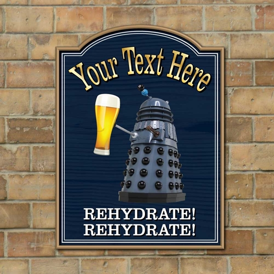 Picture of Funny Dalek Pub Sign