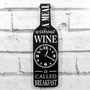 Picture of Wine Bottle Clock - A meal without wine...