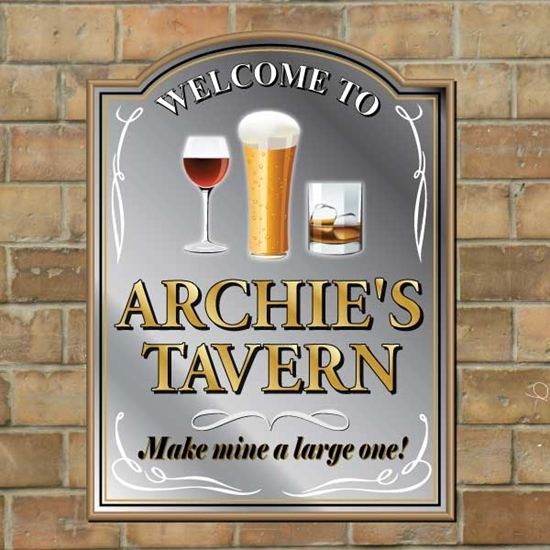 Picture of Personalised Traditional Shaped Pub Mirror
