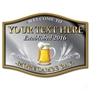Picture of Personalised Barrel Shaped Pub Mirror