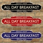 Picture of All Day Breakfast Rusty Style Advertising Sign