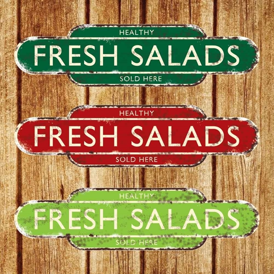 Picture of Healthy Fresh Salads Sold Here
