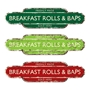 Picture of Freshly Made Breakfast Rolls and Baps Sold Here