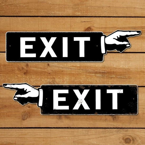 Picture of Exit Finger Pointing Sign