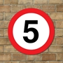 Picture of 5 mph Speed Sign