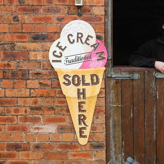 Picture of Ice Cream Sold Here Outdoor Sign