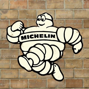 Picture of Michelin Man Sign, Vintage Garage Sign