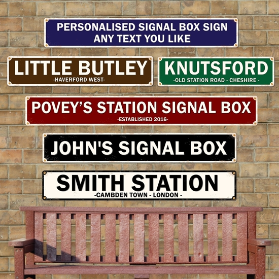 Picture of Station Signal Box Sign
