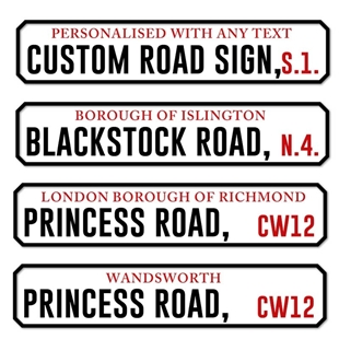 Picture of Personalised Old Style London Street Custom Road Sign