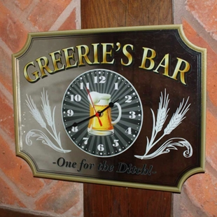 Picture of Custom Mirrored Home Bar Clock