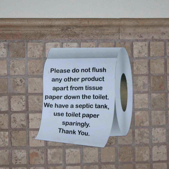 Picture of Septic Tank Sign