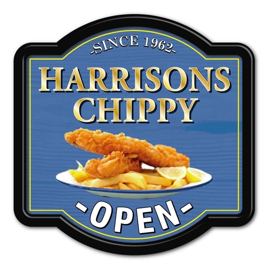 Picture of Fish and Chip Led Light Box