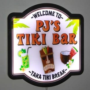 Picture of Personalised Tiki Bar Illuminated LED Pub Sign