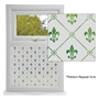 Picture of Traditional Etched Effect Window Film - Fleur-de-Lyes
