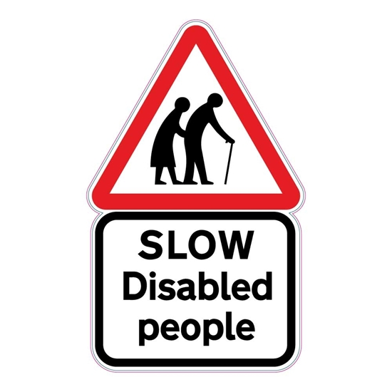 Picture of DISABLED PEOPLE SIGN