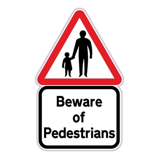 Picture of SLOW PEDESTRIANS ON FOOT